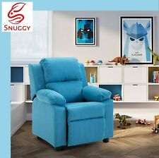 Kids Recliner Waterproof Fabric Sofa Children Lounge Chair Couch Armchair Blue