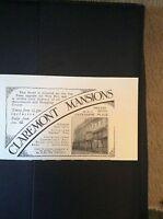 F3-1  Ephemera 1935 advert brighton claremont mansions wm bartlett
