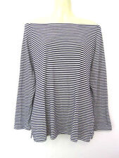 Rayon Long Sleeve Striped Tunic Tops & Blouses for Women