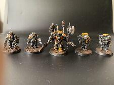 Warhammer 40k, Techmarine mit Servitoren, Imperial Fists, Finecast, top bemalt