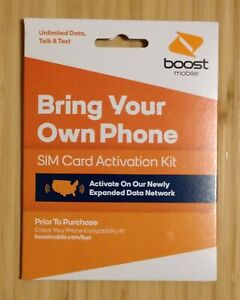 Boost Mobile Bring Your Own Phone SIM Card Activation Kit NEW!