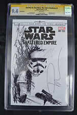 Star Wars Shattered Empire 1 NM CGC SS 9.4 Rob Prior Stormtrooper Sketch Blank