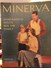 Vintage 1st Edition Minerva Hand Knits In Nylon For the Family Vol 77 ©️1948