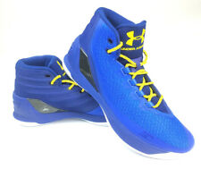 8157e0d34ddfc3 Under Armour UA Mens Curry 3 3Zero Basketball Shoes NBA - Royal Blue - Size  11