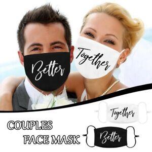 Mehrwegmaske ♥️ Stoffmaske Hochzeit wedding zusammen better together Heirat love