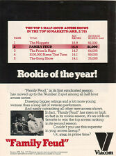 Richard Dawson Family Feud 1978 Ad- in its first syndicated season at #2 Viacom