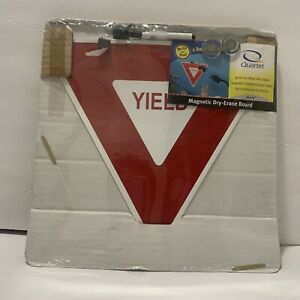 """Quartet Yield Sign Magnetic Dry-Erase Board 14""""x13"""" NEW"""
