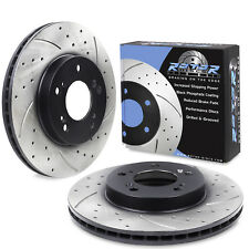 FRONT DRILLED GROOVED 282mm ROTORDISCS BRAKE DISCS FOR HONDA INTEGRA TYPE R