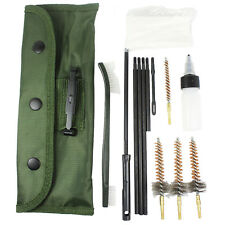 13 PCS AR-15 / M16 CLEANING KIT .223/.556 with 3 Bronze CHAMBER BRUSHES w/ Case