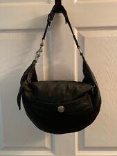 Coach Small Black Nylon Hobo Shoulder Bag Purse Satchel,