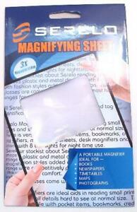 Serelo - Large A5 Magnifying Sheet - 3x Magnification