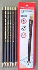 12 Faber Castell Tri-Grip 2B Pencils