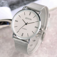 KEVIN Crystal Design Stainless Steel Strap Men Women Analog Quartz Wrist Watch