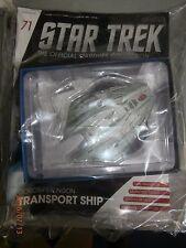 STAR TREK STARSHIPS FIGURE COLLECTION #71 Klingon Transport Ship EAGLEMOSS