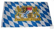 FAHNE/FLAGGE FREISTAAT BAYERN mit Löwen und Schrift GROSS 150x250 XXL