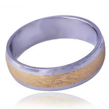 Patterned dragon Mens wedding band Ring  titanium Stainless Steel Size 10#