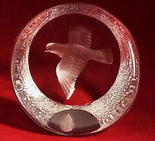 Mats Jonasson Art Glass  Crystal Flying Dove Bird Paperweight  3-D Sculpture