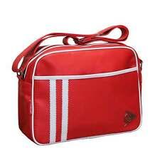 DUNLOP OFFICIAL RETRO RED PERFORATED SHOULDER MESSENGER SPORTS GYM SCHOOL BAG