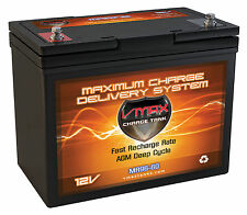 VMAX MR96 12V AGM deep cycle marine battery for 40-50LB fishing trolling motor