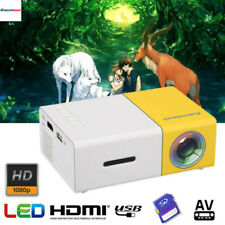 Portable 1080P HD LED Projector AV/SD/USB/HDMI Home Theater for PS4 DVD Phone PC