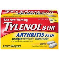 2 Pack Tylenol 8 HR Arthritis Pain Reliever 650 MG 24 Caplets Each