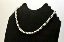 """Taxco Mexican Sterling Silver 6 mm Ball Chain Necklaces 16.5""""/42 cm, 42 grams"""