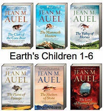 JEAN AUEL Earths Children 1-6 Tradepaper Clan Cave Bear,Mammoth Hunters,Stone +