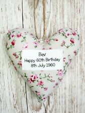 Happy 60th Birthday Heart Keepsake, Homemade Gift, Personalised, Gift Boxed