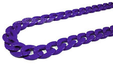 Purple Violet CHUNKY Chain Acrylic Link Necklace Craft DIY Chains 30 inch A26