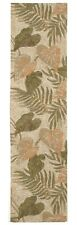 AREA RUGS - TROPICAL FOLIAGE INDOOR OUTDOOR RUG - 2' x 8' RUNNER - ISLAND STYLE