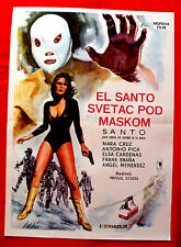 SANTO CONTRA LOS ASESINOS DE LA MAFIA 1970  MASK UNIQUE RARE EXYU MOVIE POSTER 2