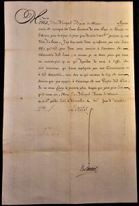 KING LOUIS XV SIGNED CONVOCATION LETTER  - 1741 König von Frankreich Rey Luis XV
