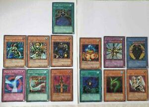 Vintage YuGiOh Trading Cards Lot of 13 - Secret Rares Lot - Jinzo - Fast Ship!