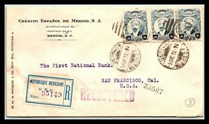GP GOLDPATH: MEXICO COVER 1922 REGISTERED LETTER _CV747_P01