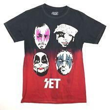 ROCKSMITH Multicolor Black Kiss SET T-shirt S Small 100% Cotton