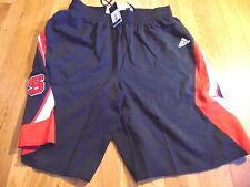 Adidas Authentic Ncaa North Carolina State Wolfpack Basketball Game Shorts Xl+2""