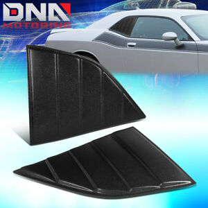 FOR 2008-2019 DODGE CHALLENGER PAIR QUARTER SIDE WINDOW LOUVERS SCOOP SUN SHADE