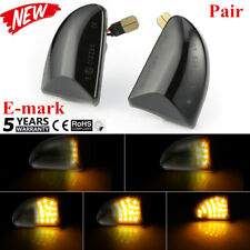 2X Smoked Dynamic Flowing Sequentia LED Side Marker signal Light for Smart Benz