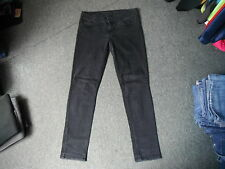 "Oasis Cherry Jeans Size 14  Leg 32"" Black Faded Ladies Jeans"