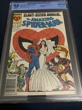 AMAZING SPIDER-MAN ANNUAL 21 CBCS Like CGC 9.8 NEWSSTAND!! MJ & PETER MARRY!!