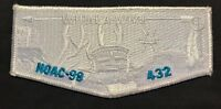 WIPALA WIKI OA LODGE 432 BSA GRAND CANYON COUNCIL AZ NOAC 1998 WHITE GHOST FLAP