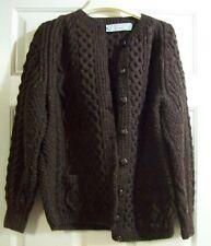 RONNIE HANNIGAN Knitwear Hand Knitted Wool Sweater Ireland   BROWN
