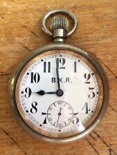 Antique Railroad Pocket Watch. Omega Movement. Estate. Indian British Railway?