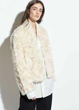 Vince Women's Jacket XL Cream Ivory Plush Faux Fur Coat $495