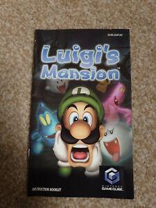 Luigi's Mansion Instruction MANUAL ONLY  Nintendo Gamecube UK