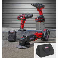 Sealey CP20VCOMBO1 3 Tool Combo Kit GRINDER IMPACT WRENCH DRILL DRIVER