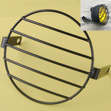 7'' Motorcycle Headlight Mesh Grill Protector Guard Retro Headlight PART
