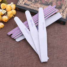 10Pcs Nail Sanding Files Polish Buffer Block Manicure Pedicure Tips Tools Gel