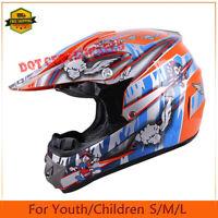 DOT Helmet Youth/Kids Motocross Motorcycle Full Face ATV Dirt Bike Off-Road SML