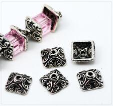 Perlenkappen Farbe antik-silber #S093 30 Perlkappen Endkappen